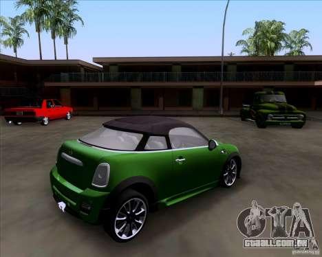Mini Cooper Concept v1 2010 para GTA San Andreas esquerda vista