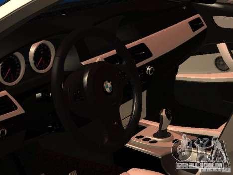 BMW 5-er Police para GTA San Andreas traseira esquerda vista