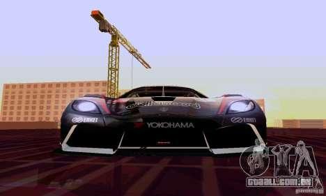 Koenigsegg Agera R para vista lateral GTA San Andreas