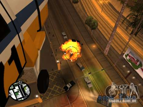 Tiro de um helicóptero para GTA San Andreas por diante tela