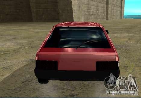 Cromo 2109 Vaz para GTA San Andreas traseira esquerda vista
