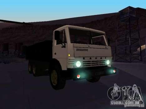 KAMAZ 53212 aberto para GTA San Andreas vista traseira