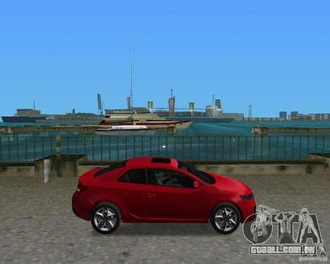 Kia Forte Coupe para GTA Vice City vista direita