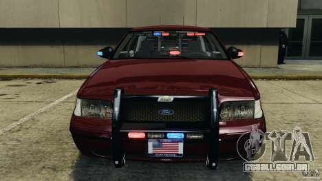 Ford Crown Victoria Police Unit [ELS] para GTA 4 vista inferior