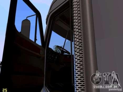 Freightliner Coronado para GTA San Andreas vista interior