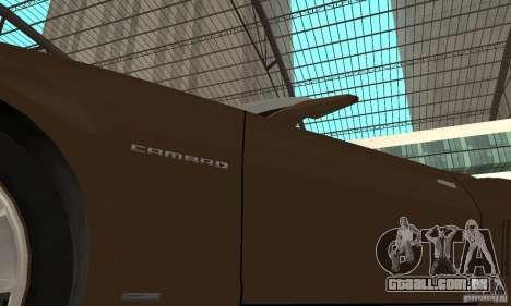 Chevrolet Camaro Concept 2007 para vista lateral GTA San Andreas