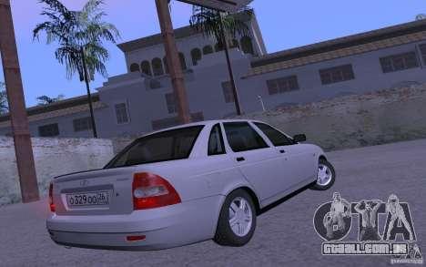 LADA Priora 2170 Pnevmo para GTA San Andreas traseira esquerda vista
