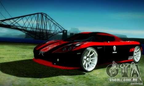 Koenigsegg CCX para GTA San Andreas vista interior
