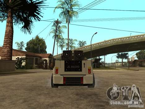 Uaz Cabriolet para GTA San Andreas traseira esquerda vista