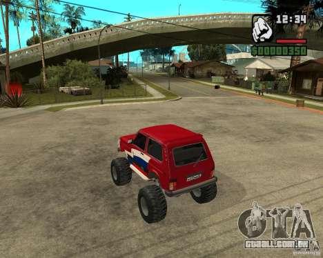 VAZ-21213 4x4 Monster para GTA San Andreas vista direita