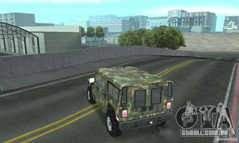 Hummer H1 para as rodas de GTA San Andreas