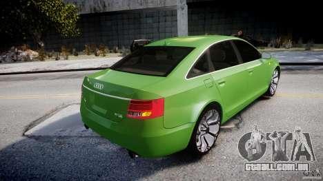 Audi A6 TDI 3.0 para GTA 4 vista inferior