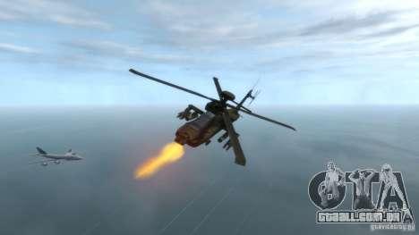 AH-64D Longbow Apache v1.0 para GTA 4 vista direita