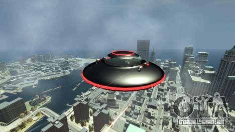 UFO neon ufo red para GTA 4 vista de volta