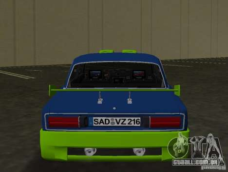 VAZ 2106 Tuning v 3.0 para GTA Vice City vista traseira