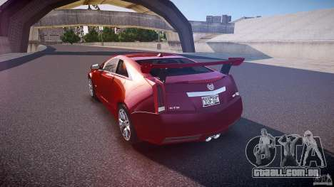 Cadillac CTS-V Coupe para GTA 4 traseira esquerda vista