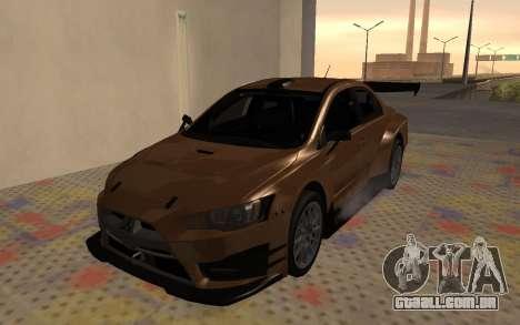 Mitsubishi Lancer Evolution X para GTA San Andreas vista traseira