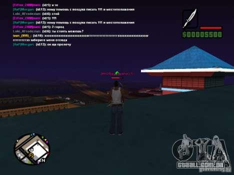 Faca de CLEO para GTA San Andreas segunda tela