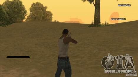 O ponto em vez da visão para GTA San Andreas segunda tela