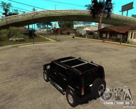 AMG H2 HUMMER SUV FBI para GTA San Andreas esquerda vista