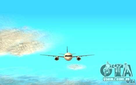 Boeing 757-200 para GTA San Andreas traseira esquerda vista