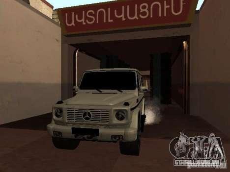 Mercedes-Benz G500 Kromma 1480 para GTA San Andreas vista interior