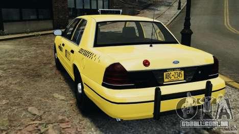 Ford Crown Victoria NYC Taxi 2004 para GTA 4 traseira esquerda vista