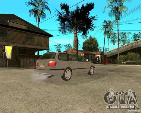 Nissan Primera Traveller P11 para GTA San Andreas traseira esquerda vista