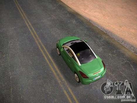 Peugeot RCZ 2010 para GTA San Andreas traseira esquerda vista