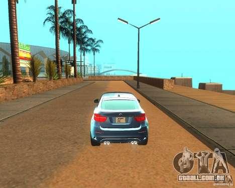 BMW Motorsport X6 M v. 2.0 para GTA San Andreas vista direita
