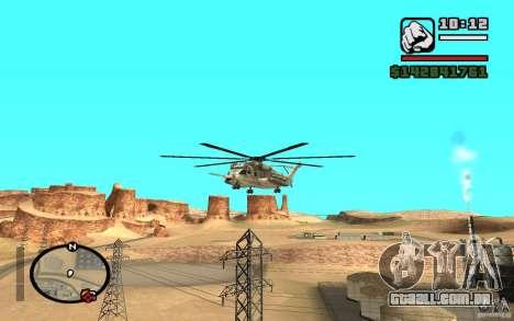 Sikorsky MH-53 com escotilha fechada para GTA San Andreas esquerda vista