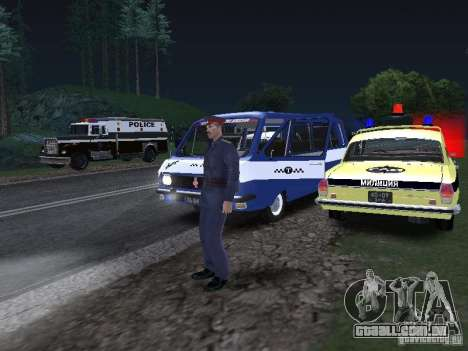 Police Post para GTA San Andreas por diante tela