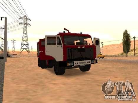 KAMAZ 53229 bombeiro para GTA San Andreas traseira esquerda vista
