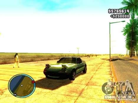 Mazda Miata 1994 para GTA San Andreas esquerda vista