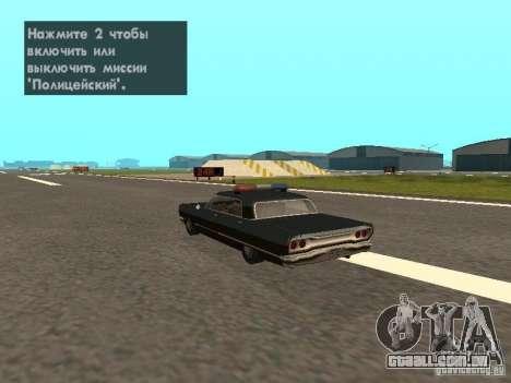 Police Savanna para GTA San Andreas esquerda vista