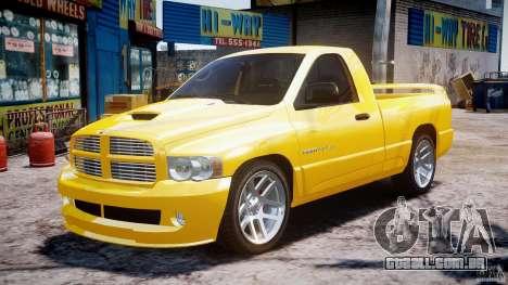 Dodge Ram SRT-10 2003 1.0 para GTA 4 vista de volta