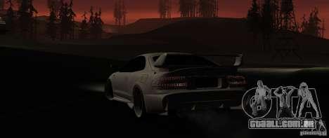 Toyota Celica 1993 Light tuning para GTA San Andreas traseira esquerda vista