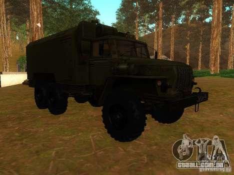Ural 4320 Kung para GTA San Andreas vista interior