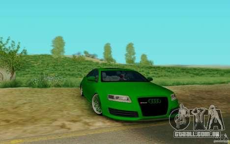 Audi RS6 OTIS para GTA San Andreas esquerda vista