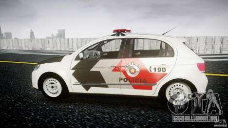 Volkswagen Gol G5 PMSP [ELS] para GTA 4 esquerda vista