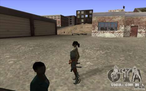 Chell from Portal 2 para GTA San Andreas terceira tela