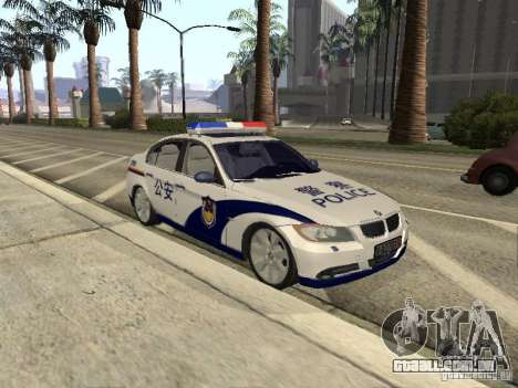 BMW 3 Series China Police para GTA San Andreas traseira esquerda vista