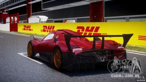 Pagani Zonda R para GTA 4 traseira esquerda vista
