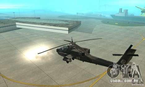 An-64 Apache para GTA San Andreas vista traseira