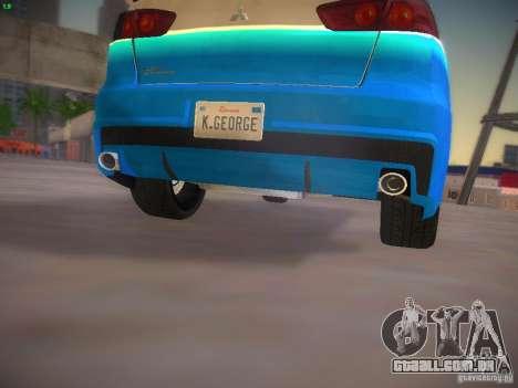 Mitsubishi Lancer Evo X Tunable para GTA San Andreas interior