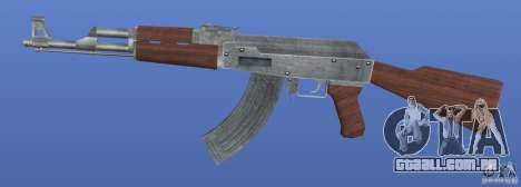 AK47 Retex 1.1 Chrome para GTA 4 terceira tela