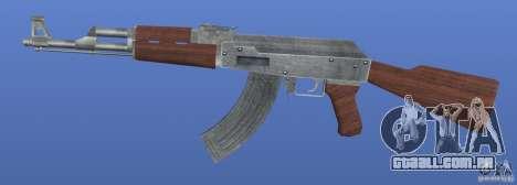 AK47 Retex 1.1 Chrome para GTA 4 terceira tela