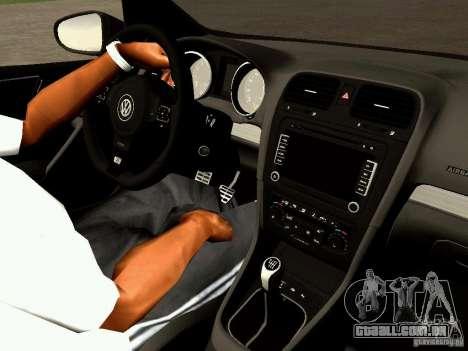 Volkswagen Golf R 2010 para GTA San Andreas vista traseira