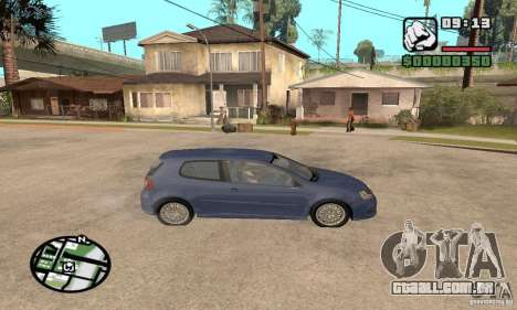 VW Golf R32 Tunable para GTA San Andreas vista traseira