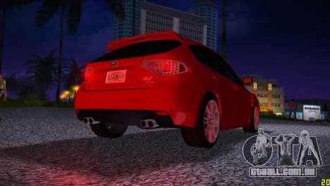 Subaru Impreza WRX STI (GRB) - LHD para GTA Vice City vista direita